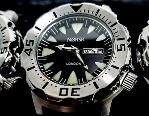 Sea-Monster-Watch-Norsk-Norway-medalists-Diver-Citizen-Movmt-Black