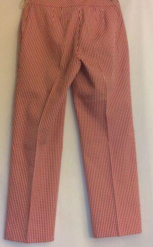 Nwot 2 Pantaloni Dress Red Label John Sz Blend corti Gingham St Yellow Cotton rOfr7nqC