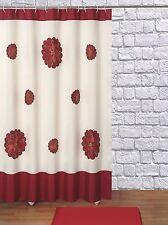 Item 4 Seasonu0027s Greetings Christmas Holiday Fabric Shower Curtain Poinsettia  Flower  Seasonu0027s Greetings Christmas Holiday Fabric Shower Curtain  Poinsettia ...