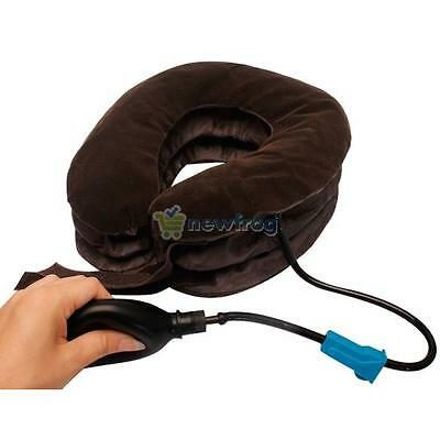 Cervical Neck Traction Device Shoulder Headache Relax Brace Support Pillow Hot