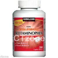 Kirkland Acetaminophen Extra Strength 500 Pain Reliever Caplets Generic Tylenol