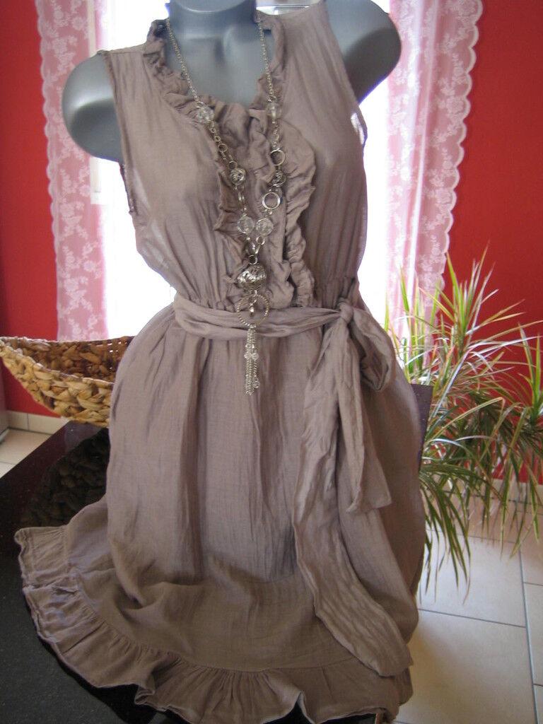 KLEID Trägerkleid Tunika Damen Sommer luftig SEIDE 36  Neu Blogger