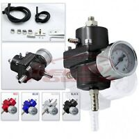 Fuel Pressure Regulator With Gauge (black)