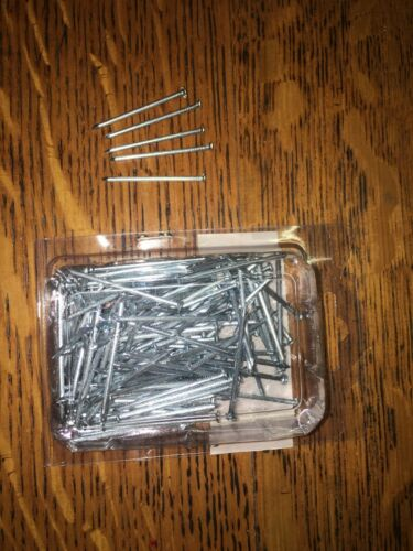 350 Pcs 1 1///'/' Flat Head Nails DIY Wood Carpentry Pins Nail Metal Professional