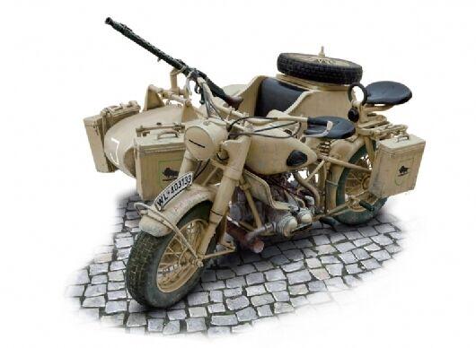 Italeri 7403 Allemand Militaire Moto avec Sidecar 1  9th Echelle Kit PLASTIQUE