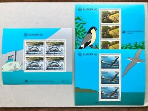 PORTUGAL-Madeira-Azores-1986-Lot-of-3-Europa-CEPT-Minisheets-VF-Mint-NH