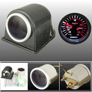 2-52mm-Universal-Car-White-LED-Turbo-Boost-Vacuum-Pressure-Gauge-amp-Pod-Holder