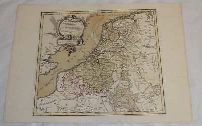 1766 Antique Map//western Europe