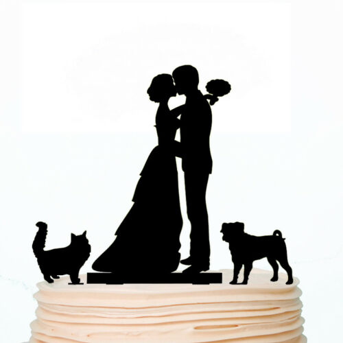 Pet Wedding Cake Toppers Personalized Cat Dog Family Topper Decorations