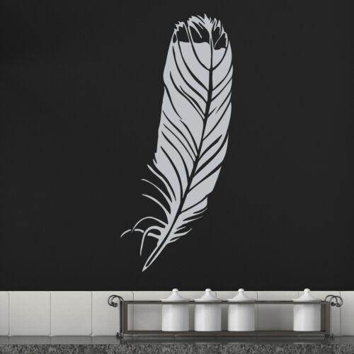 Single Feather Wall Sticker Decal Transfer Home Bird Bedroom Matt Vinyl UK