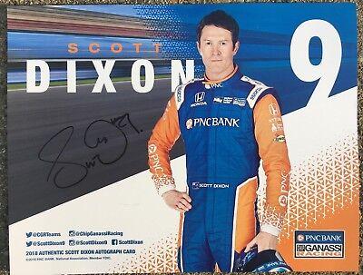 Scott Dixon 2018 Indy Car Indianapolis 500 Promo hero Card Autographed Signed