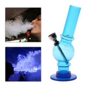 Portable-Hookah-Water-Bong-Herb-Acrylic-Smoking-Pipe-Kits-Shisha-Tobacco-BLUE