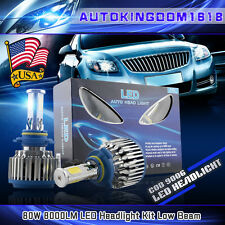 2X 9006 HB4 Cree 4-Sides LED Headlight Kit 80W 8000LM Low Beam White Bulbs Pair