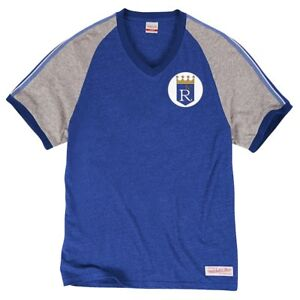 new concept d4f21 3275e Details about NEW Kansas City Royals Mitchell & Ness Throwback Jersey Shirt  Medium M KC Blue
