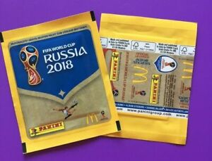 Panini-coupe-du-monde-2018-5-pochettes-McDonalds-WORLD-CUP-WC-18-Bustina-pochette-packet