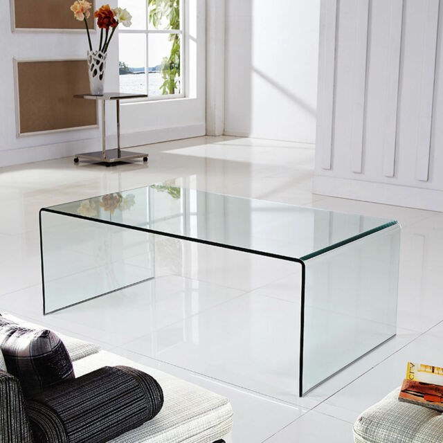 Chrome Coffee Table Cocktail Tempered Frosted Glass Accent Modern Hexagon  For Sale Online   EBay