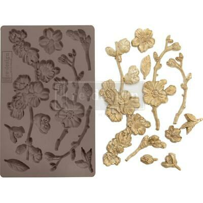 Prima Marketing Mould Mold IN THE GARDEN Flowers Food Safe Clay Candy Chocolate