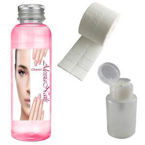 Cleaner 500 ml Nagelcleaner Entfetter + 500er Zellette + Dispenser Pumpflasche