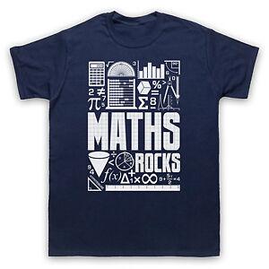 7338e777 MATHS ROCKS MATH GEEK CHIC NERD MATHEMATICS MATHLETE T-SHIRT ADULTS ...