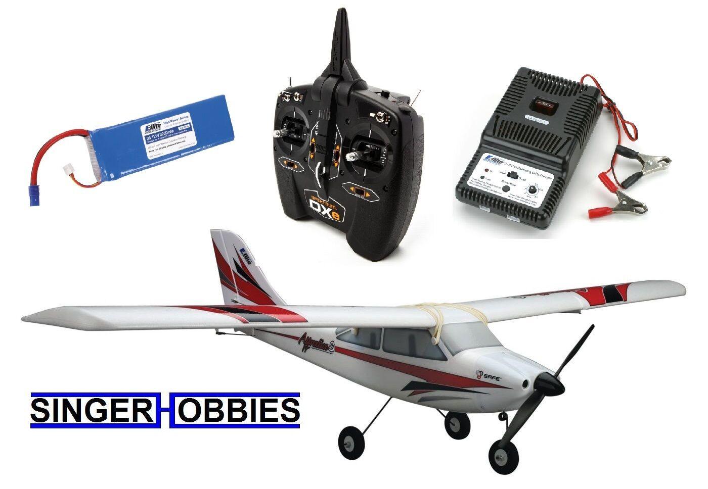 E-Flite RTF Apprentice S 15e seguro Radio Control avión DXE radio EFL3100E Hh