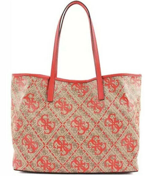Guess Sac À Bandoulière Vikky Large Tote Red Multi