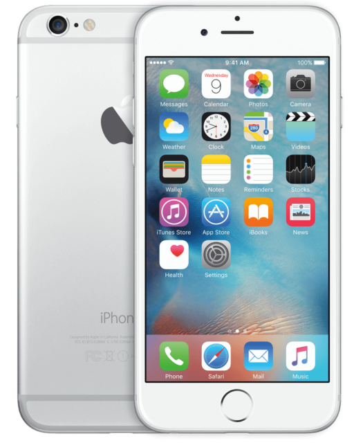 NEW SILVER VERIZON GSM/CDMA UNLOCKED 64GB APPLE IPHONE 6 PLUS PHONE JJ39