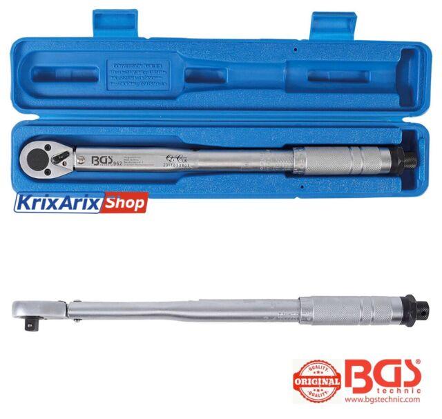 """BGS 962 Chiave Dinamometrica Chiavi Cricchetto 10mm 3/8"""" 7-105 nm Auto Moto Bici"""