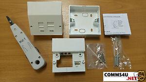 genuine bt master socket vdsl2 adsl phone filter faceplate box
