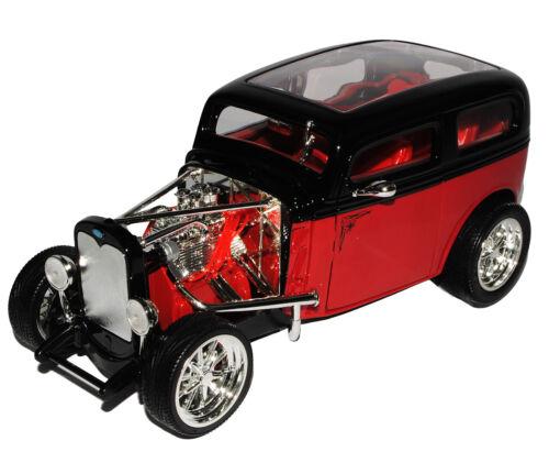 Ford Model a Custom 1931 Hot Rod rojo negro 1//18 Yatming modelo coche con o o