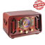 Retro-Vintage-Radio-Wood-Bluetooth-2-Stereo-Speaker-AM-FM-USB-Modern-Technology thumbnail 1