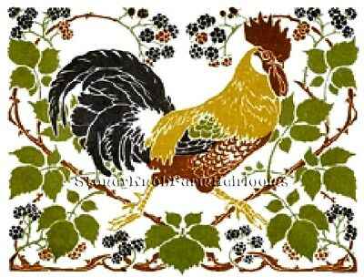 Barnyard ~ DIY Counted Cross Stitch Pattern Rooster /& Hens Chickens