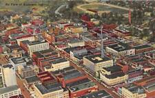 ANDERSON, IN Indiana    AERIAL VIEW OF CITY  Madison County   c1940's Postcard