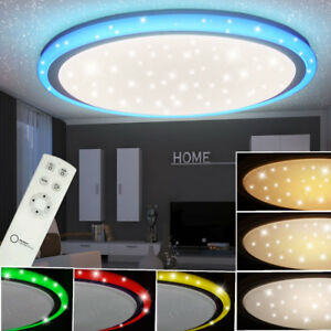 rgb led deckenleuchte wohnraum sternenlampe cct schaltung dimmbar fernbedienung ebay. Black Bedroom Furniture Sets. Home Design Ideas