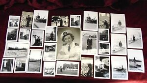 Lot 25 B&W PHOTOS US MILITARY NAVY NURSE SEAMEN WWII SHOEMAKER CALIFORNIA 1940's