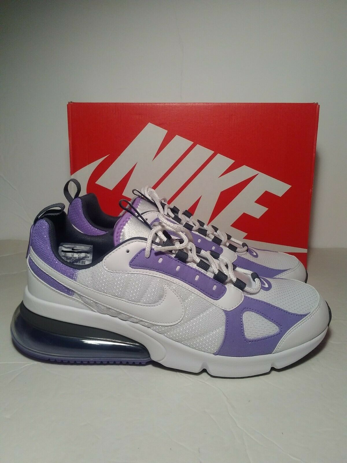 Nike Air Max 270 Futura White purple Sneakers AO1569-101 Men Size 12