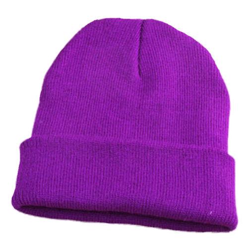 Hommes Femmes Hip-Hop Couleur Unie Extérieur Laine Bonnet Beanie hiver chaud tricot Ski Cap