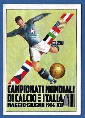 POSTER ITALIA 1934 RECUPERO AUTOADESIVO CALCIATORI PANINI MEXICO 70