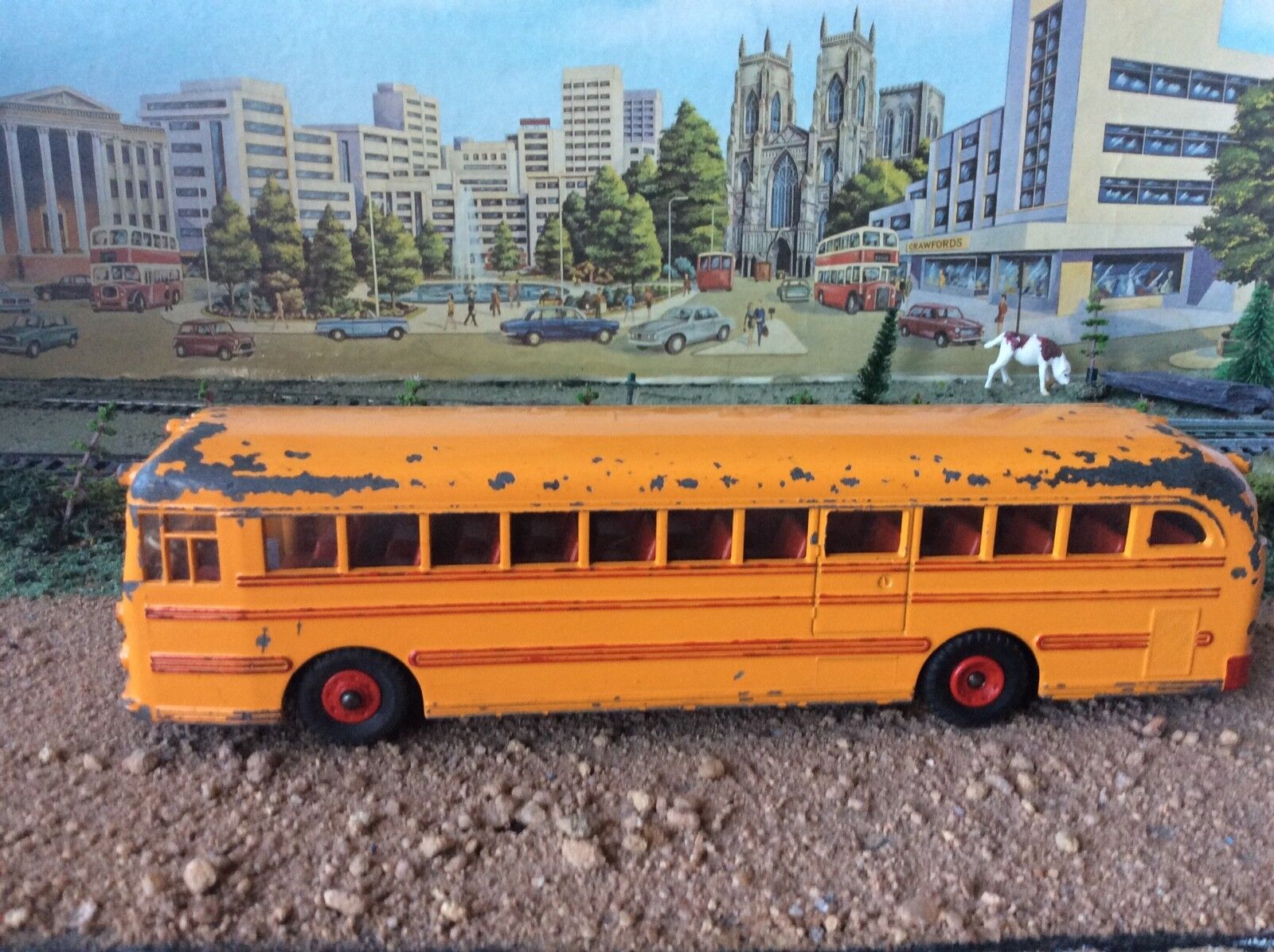 DINKY  949   VINTAGE  WAYNE  BUS -  TOTALLY  ORIGINAL  -  RECENT  LONDON  LOFT