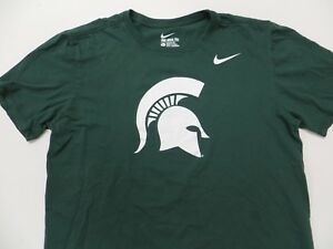 14e5bfbf5 Image is loading Nike-Michigan-State-Spartans-Sparty-Logo-Mens-Green-