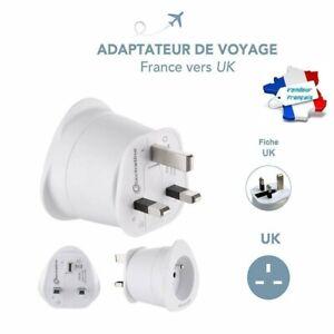 Adaptateur-de-Voyage-Pratique-Utile-France-EUR-vers-3-Broches-UK-Blanc