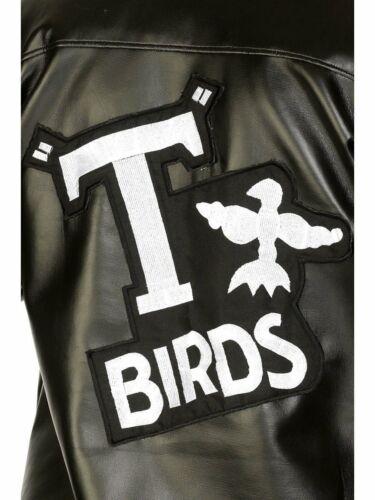 CK752 Boys T-Birds Gang Jacket 1950 50s Black Grease Danny T bird Tbird Costume