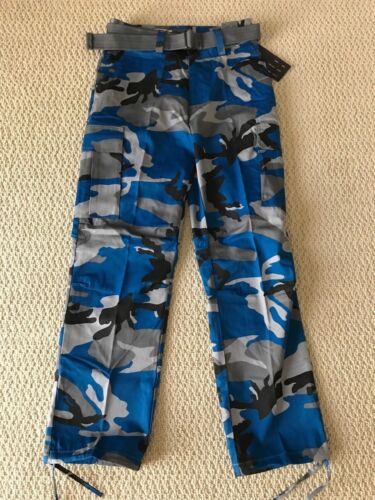 sportivi Tutti Camo blu Cargo i lunghezze formati Pantaloni scuro Camouflage vdBUTw
