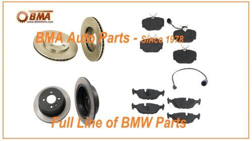 BMW E30 BRAKE KIT FRONT /& REAR ROTOR PAD SENSOR PADS 318i 325 325e 325i 325is