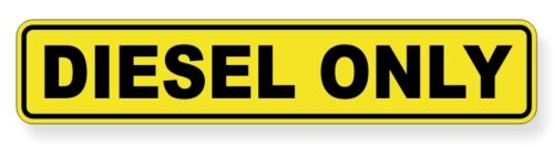 Decal Label Safety Truck Oil Gas Fuel Truck Marker DIESEL ONLY Vinyl Sticker