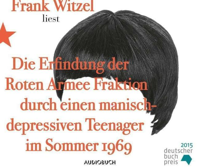 Frank Witzel - Die Erfindung der Roten Armee Fraktion - CD NEU OVP
