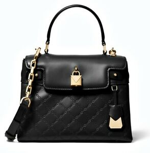 Original-Michael-Kors-Bag-Handbag-Gramercy-Md-Th-Satchel-Black-New