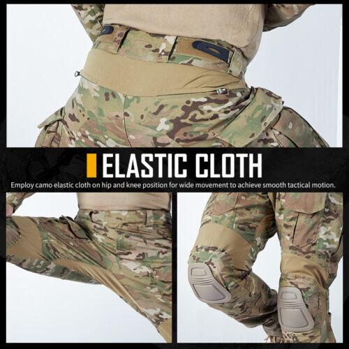 IDOGEAR Tactical Uniform BDU G3 Combat Shirt /& Pants Knee Pads Update Ver Camo