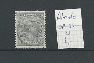 """KLEINrond """"ALMELO 1898"""" op 38  VFU/gebr  CV 6 €"""