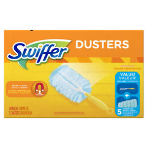 New-40509-SWIFFER-Duster-Starter-Kit-5-Disposable-Dusters-Handle-Dust-Cleaner