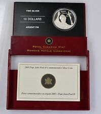 10 Dollar Kanada 2005 Papst Johannes Paul II. Silber 999